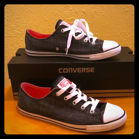 converse dainty ox black
